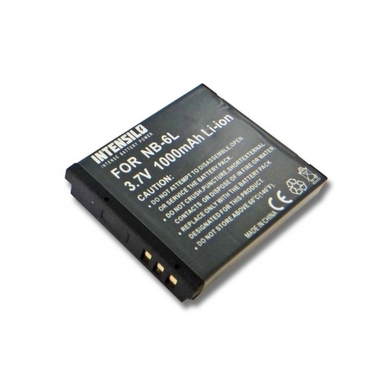 Batéria pre fotoaparát, Digicam, DSLR ako Canon NB-6L Li-Ion 1000mAh (3.7V)